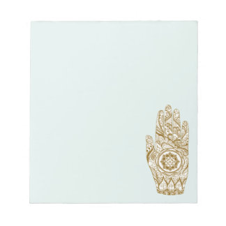 Henna Hand Lotus Notepad