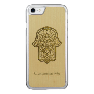 Henna Hand of Hamsa (Golden) Carved iPhone 7 Case