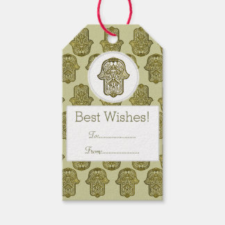 Henna Hand of Hamsa (Golden) Pack Of Gift Tags