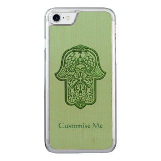 Henna Hand of Hamsa (Green) Carved iPhone 7 Case