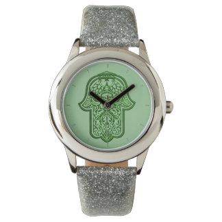 Henna Hand of Hamsa (Green) Watch