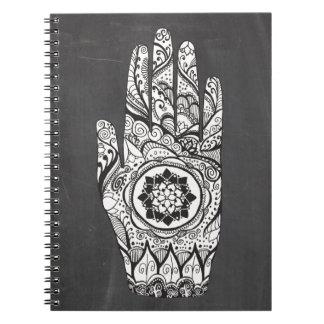 Henna Hand Tattoo With Lotus Flower Notebook