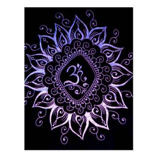 Henna Hindu Symbol Postcard