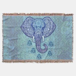 Henna India lord-Ganesh-symbol Throw Blanket