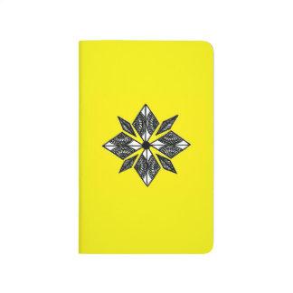 Henna inspired diamond notebook yellow