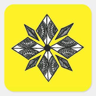 Henna inspired diamond sticker yellow