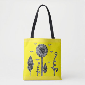 Henna inspired magical forest tote