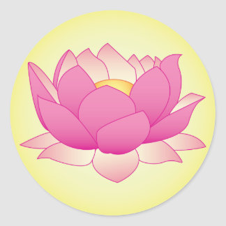 Henna Lotus Classic Round Sticker