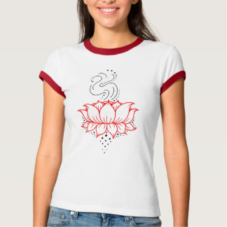 Henna Lotus Ladies Ringer T T-Shirt