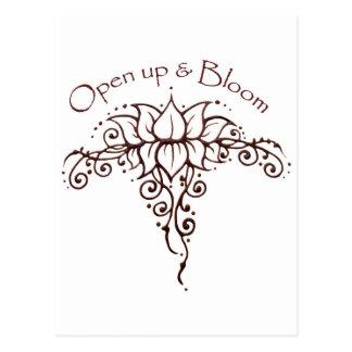 Henna Lotus 'Open Up & Bloom' Postcard
