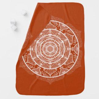Henna Mandala Baby Blanket