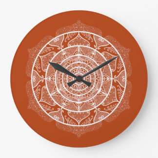 Henna Mandala Large Clock
