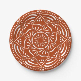 Henna Mandala Paper Plate