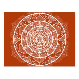 Henna Mandala Postcard