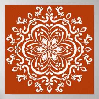 Henna Mandala Poster
