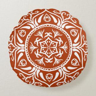 Henna Mandala Round Pillow