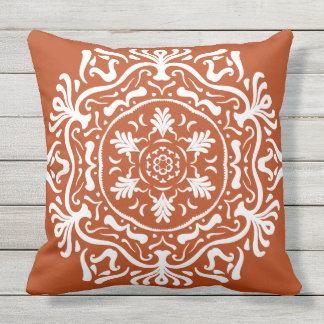 Henna Mandala Throw Pillow