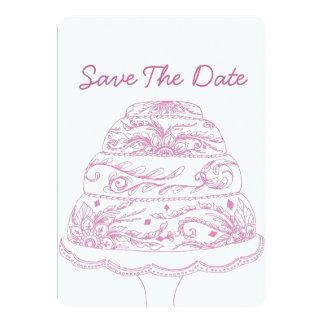 "Henna Mehndi Cake Invitation Save the Date 5"" X 7"" Invitation Card"