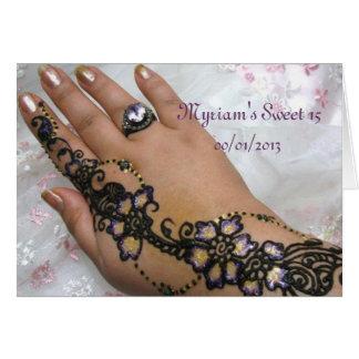 Henna Mehndi Card