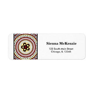 Henna Mehndi Custom Return Address Label