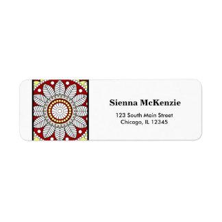 Henna Mehndi Return Address Label