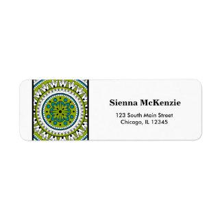Henna Mehndi Custom Return Address Labels