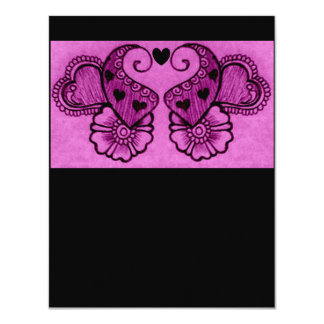 "henna mehndi love 4.25"" x 5.5"" invitation card"