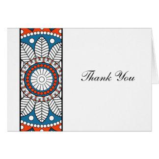 Henna Mehndi Thank You Note Card