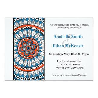 "Henna Mehndi Wedding 5"" X 7"" Invitation Card"