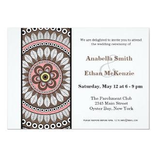 Henna Mehndi Wedding 5x7 Paper Invitation Card