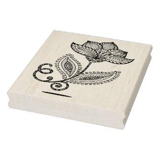 Henna Paisley Mehndi Doodles Rubber Stamp