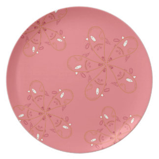 Henna Pink Gold ethno look Plate