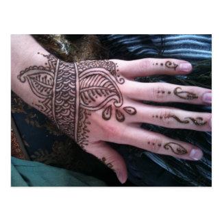 Henna Scales Hand Postcard
