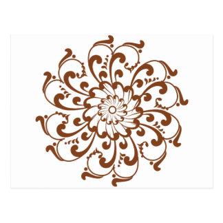 Henna Swirl Mandala Postcard