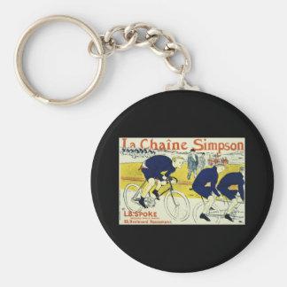 Henri de Toulouse La Chaine Simpson Basic Round Button Keychain