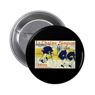 Henri de Toulouse La Chaine Simpson 2 Inch Round Button