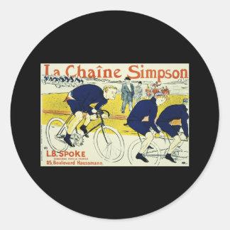 Henri de Toulouse La Chaine Simpson Classic Round Sticker