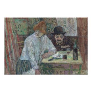 Henri de Toulouse-Lautrec - At the Cafe La Mie Art Photo