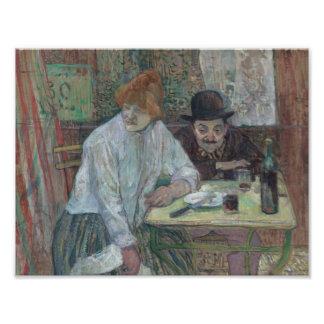 Henri de Toulouse-Lautrec - At the Cafe La Mie Photo