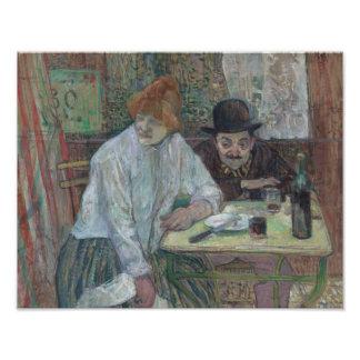 Henri de Toulouse-Lautrec - At the Cafe La Mie Photo Art