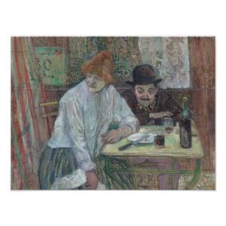 Henri de Toulouse-Lautrec - At the Cafe La Mie Photographic Print