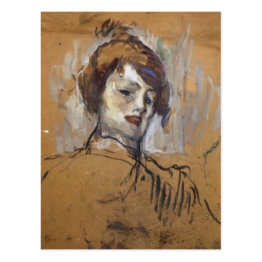 Henri de Toulouse-Lautrec- Head of a Woman Postcard