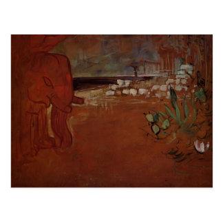 Henri de Toulouse-Lautrec- Indian Decor Postcard