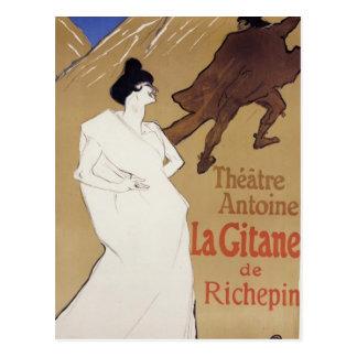 Henri de Toulouse-Lautrec- La Gitane The Gypsy Postcard