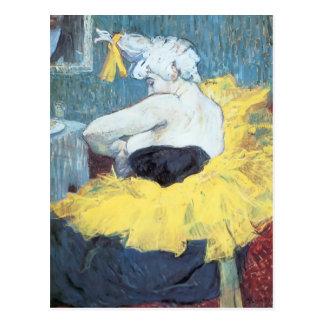 Henri de Toulouse-Lautrec: The clownesse Cha u Kao Postcard