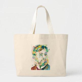 HENRI DE TOULOUSE-LAUTREC - watercolor portrait Large Tote Bag