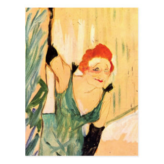 Henri de Toulouse-Lautrec: Yvette Guilbert Postcard
