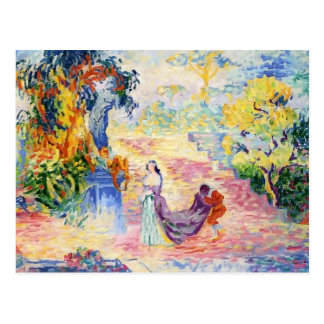 Henri-Edmond Cross- Woman in the Park Postcard