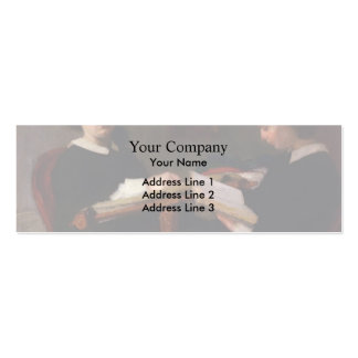 Henri Fantin-Latour- The Two Sisters Business Card Template