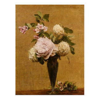 Henri Fantin-Latour- Vase of Peonies and Snowballs Postcard